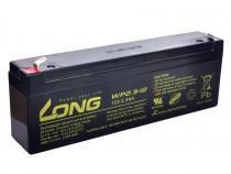 Long 12V 2,3Ah olověný akumulátor F1 (WP2,3-12)
