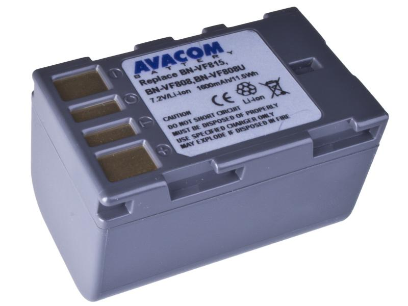 JVC BN-VF808, VF815, VF823 Li-Ion 7.2V 1600mAh 11.5Wh