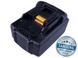 MAKITA BL 1830 Li-Ion 18V 3000mAh, články SAMSUNG s LED indikací